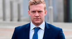 Stuart Olding arrives at court