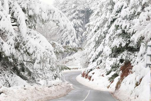 Snow on the Glencullen Road in the Dublin Mountains
