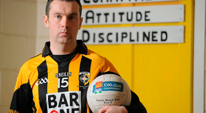 Oisin McConville, who has had gambling problems himself in the past, wearing a Crossmaglen jersey sponsored by a betting company