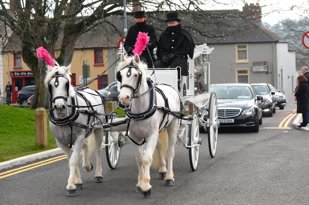 Joanne Ball Funeral Duleek. Photo: Justin Farrelly.