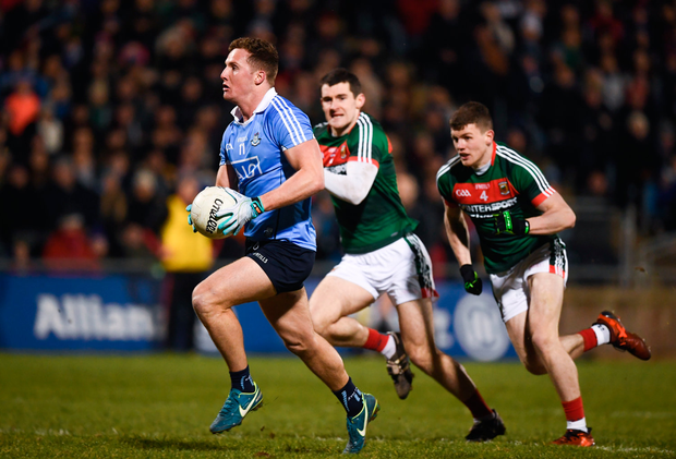 24 February 2018; Ciaran Kilkenny of Dublin during the Allianz Football League Division 1 Round 4 match between Mayo and Dublin at Elverys MacHale Park in Castlebar, Co Mayo. Photo by Stephen McCarthy/Sportsfile