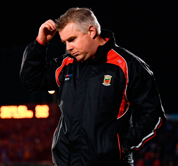 Mayo manager Stephen Rochford at Elverys MacHale Park. Photo: Stephen McCarthy/Sportsfile