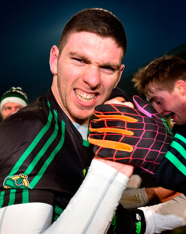 Luke Connolly of Nemo Rangers celebrates after the AIB GAA Football All-Ireland Senior Club Championship Semi-Final. Photo: Eóin Noonan/Sportsfile