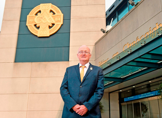 John Horan, who yesterday became the 39th GAA president at the Association's Annual Congress, pictured outside Croke Park. Photo: Piaras Ó Mídheach/Sportsfile