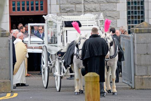 FAREWELL: The funeral of Joanne Lee in Duleek yesterday. Photo: Justin Farrelly