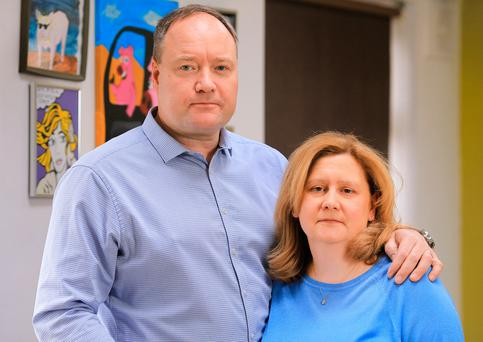 SURVIVORS: Ray and Pam Hegarty, of Dublin, spoke about the Tunisian hotel terror attack. Photo: Gerry Mooney