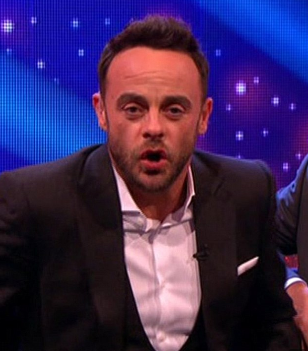 Ant looked nervous behind the wheel while he waited for the safety team to come and check him over. Photo: ITV