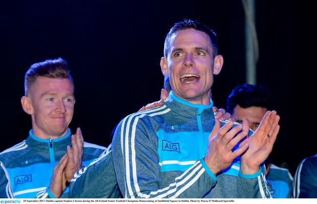 Cluxton during the All-Ireland Senior Football Champions Homecoming at Smithfield