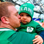 Sean Cronin of Ireland with his son Finn