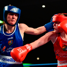 Kellie Harrington, left, in action against Amy Broadhurst