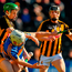 Niall O'Meara of Tipperary in action against Joey Holden of Kilkenny
