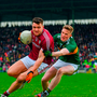 Damien Comer of Galway in action against Jason Foley of Kerry