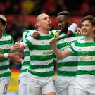 Celtic's Moussa Dembele celebrates scoring his side's first goal