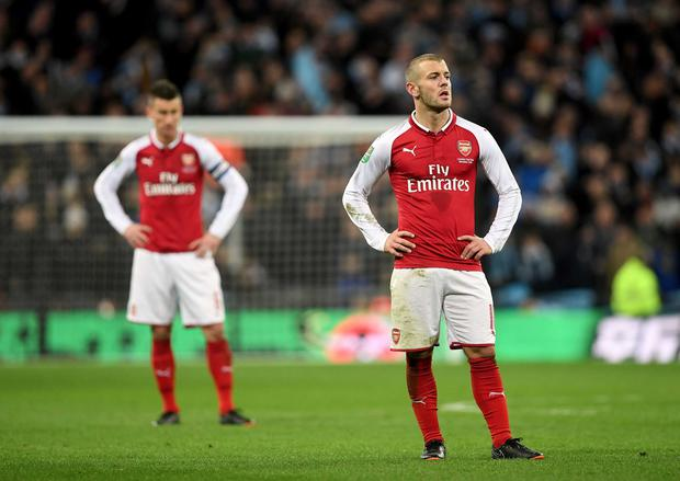 Jack Wilshere could not stop Arsenal's defeat at Wembley