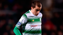 Sean Kavanagh wil be hoping to build on his impressive debut for Rovers. Photo: Sportsfile