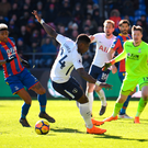 Serge Aurier set for a week of throw-in practice after his embarrassing mistakes at Selhurst Park. Photo: Getty Images