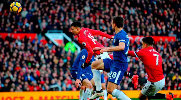 Jesse Lingard scores Manchester United's winner at Old Trafford. Photo: Getty Images