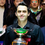 Ronnie O'Sullivan celebrates after winning the final match against Judd Trump. Photo: Getty Images