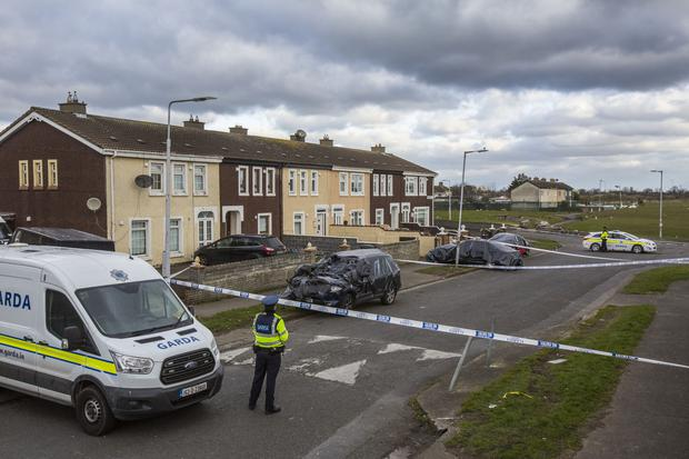 The scene of the shooting in Coolock, Dublin Photo: Mark Condren