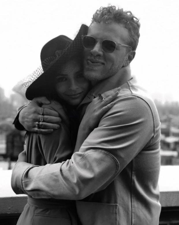 Emily Ratajkowski and husband Sebastian Bear-McClard. Picture: Instagram