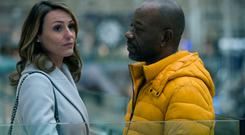 Suranne Jones as Claire McGory and Lennie James as Nelson