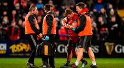 Chris Cloete of Munster suffered a fractured forearm against Glasgow