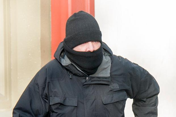 Former member of An Garda Síochána, John O'Halloran pictured at Cork Circuit Criminal Court pleading guilty to corruption charges. Pic: Provision