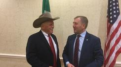 Minister Creed meets Kevin Kester, President of National Cattlemens Beef Association, while on Trade Mission to US and Canada