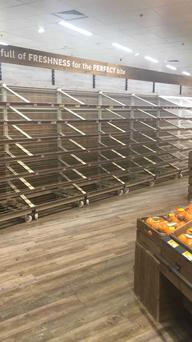 Bread has been cleared from the shelves at SuperValu in Carrigaline