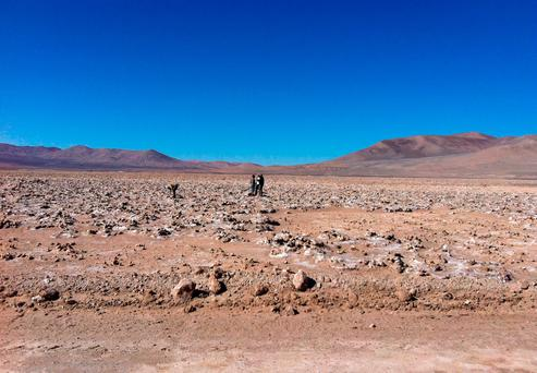 A Washington State University handout photo of the Atacama desert, in south America, one of the driest places on Earth. Photo: Dirk Schulze-Makuch/Washington State University/PA