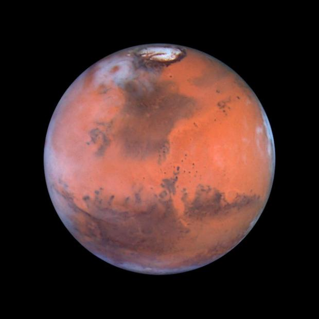 Mars, as seen by the Hubble Space Telescope. PA photo: NASA Planetary Photojournal