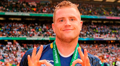 Jamie Heaslip celebrates his third European Cup after the 2012 victory over Ulster. Photo: Matt Browne/Sportsfile