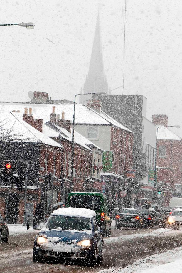 Blizzard conditions in Phibsboro in 2010.