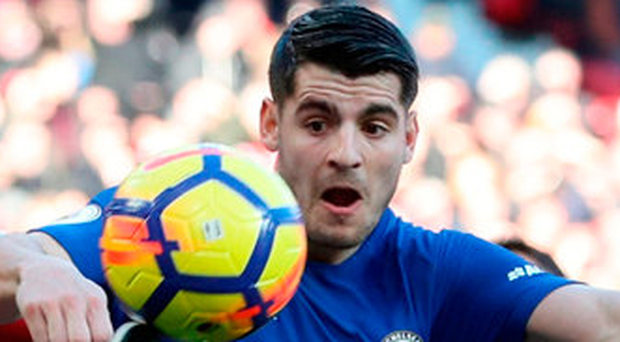 Without a goal since Boxing Day, and having struggled with a back problem, it is understandable that Morata has not been feeling his best. Photo credit: Martin Rickett/PA Wire.