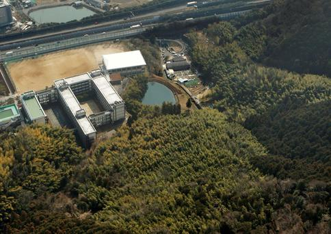 General view of a mountainous area where severed body parts were found after police discovered a severed human head during a search for a missing Japanese woman, in Shimamoto, Japan in this photo taken by Kyodo February 26, 2018. Mandatory credit Kyodo/via REUTERS