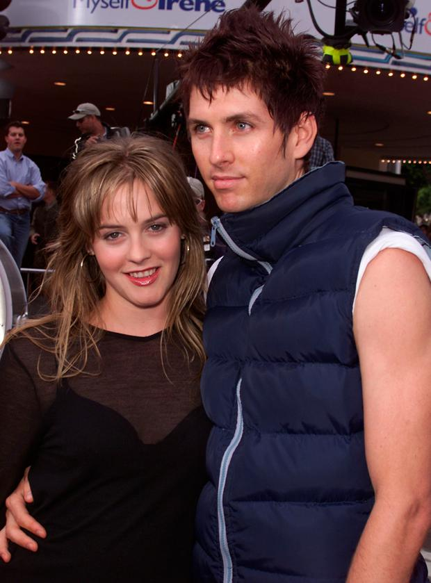Alicia Silverstone and Christopher Jarecki at the premiere of 'Me, Myself & Irene' in 2000