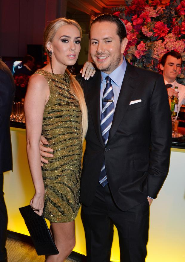 Petra Stunt (L) and James Stunt attend The F1 Party in aid of the Great Ormond Street Children's Hospital at the Victoria and Albert Museum on July 2, 2014 in London, England. (Photo by David M. Benett/Getty Images)