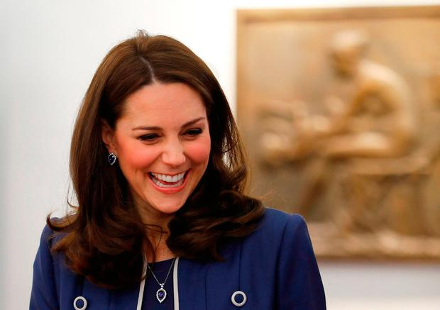 CORRECTION - Britain's Catherine, Duchess of Cambridge visits the Royal College of Obstetricians and Gynaecologists (RCOG) in London, on February 27, 2018