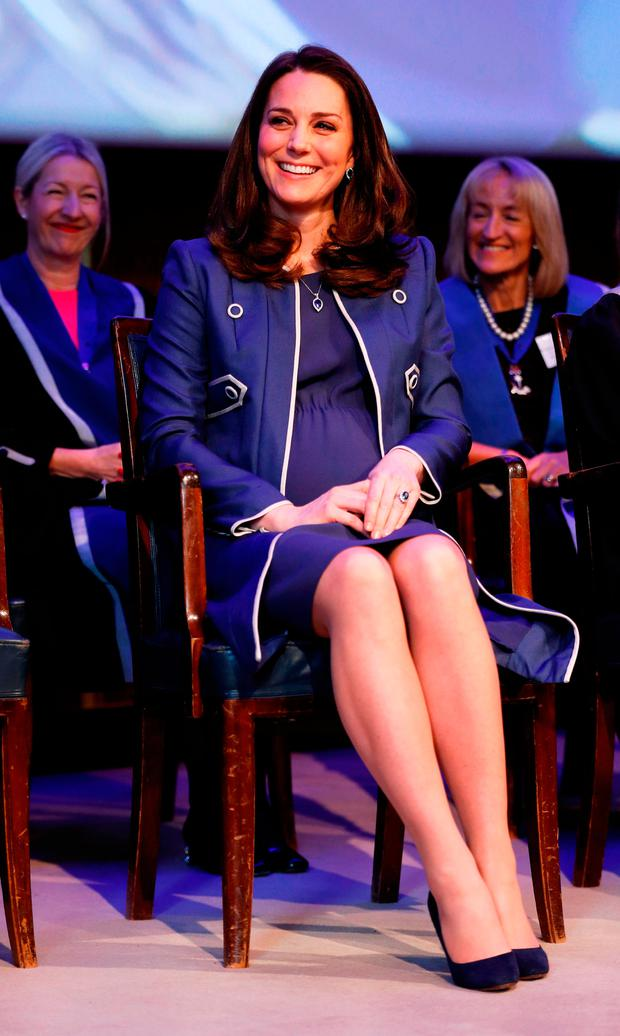 Britain's Catherine, Duchess of Cambridge visits the Royal College of Obstetricians and Gynaecologists (RCOG) in London, on February 27, 2018