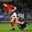 23 February 2018; Tom Rogers of Wales is tackled by Tommy O'Brien of Ireland during the U20 Six Nations Rugby Championship match between Ireland and Wales at Donnybrook Stadium in Dublin. Photo by David Fitzgerald/Sportsfile