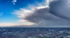 'Beast from the East' approaches London city (Photo: NPAS)