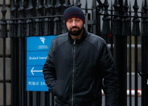 Nicolae (Nico) Fosca, 33yrs, of Lincoln Hall, Riverbank, Swords, Co Dublin pictured leaving the Four Courts after a Circuit Civil Court action.Pic: Collins Courts