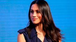 Meghan Markle attends the first annual Royal Foundation Forum held at Aviva on February 28, 2018 in London