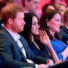 (left to right) Prince Harry, Meghan Markle and the Duchess and Duke of Cambridge during the first Royal Foundation Forum in central London