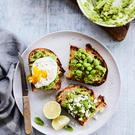 Avocado on toast three ways. Photo: Rob Kerkvliet