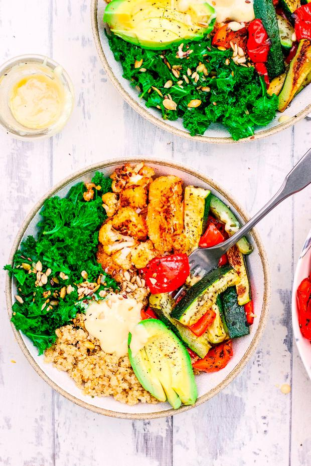 Tahini veg bowls by Indy Power