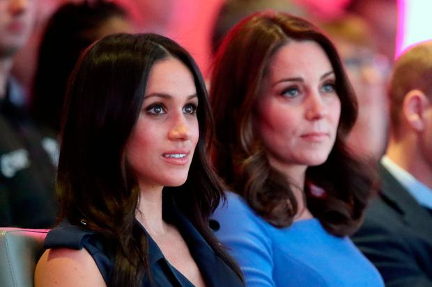 Britain's Catherine, Duchess of Cambridge and Prince Harry's fiancee Meghan Markle attend the first annual Royal Foundation Forum held at Aviva in London, February 28, 2018 . REUTERS/Chris Jackson/Pool