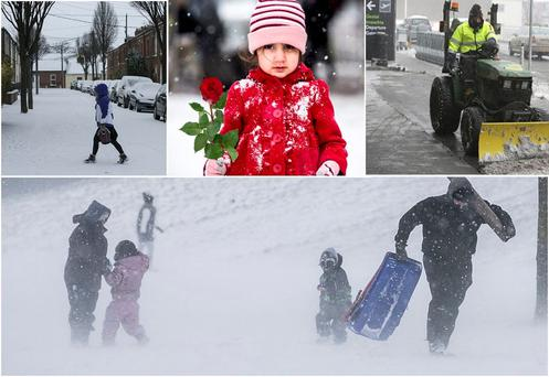 Some scenes from around the country ahead of the arrival of Storm Emma