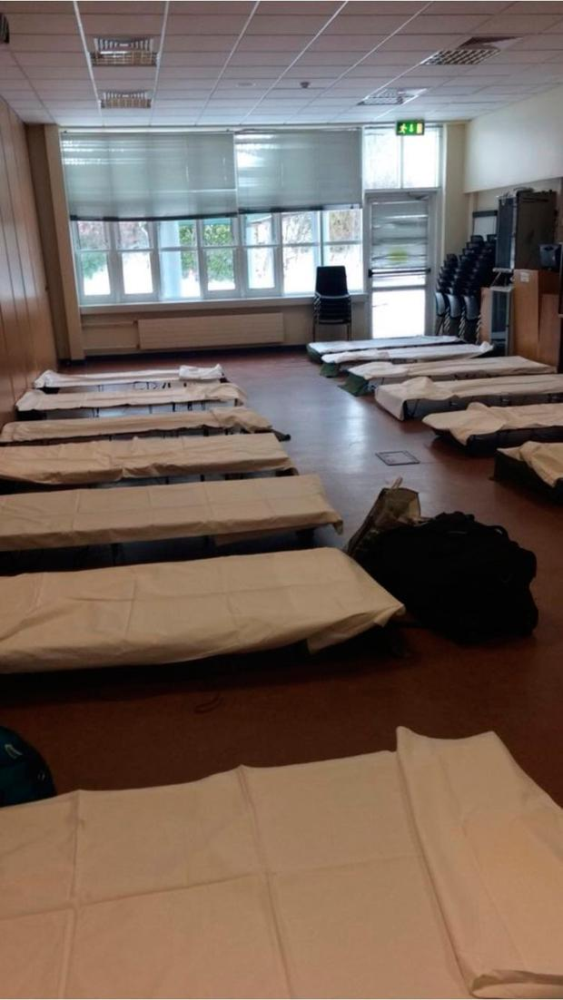Temporary beds set up in Tallaght Hospital