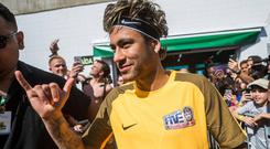 Neymar joined PSG for a world-record fee of €222m (£200m) from Barcelona last August and has scored 29 goals in 30 games for the French champions. Photo: Marcelo Maragni/INPHO/Red Bull Content Pool
